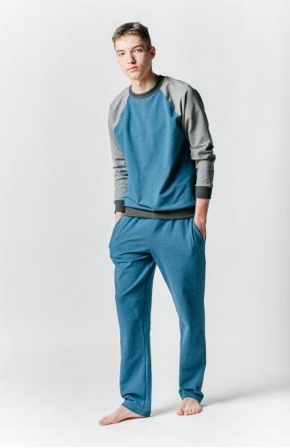>Чоловічий набір триколірний блакитний