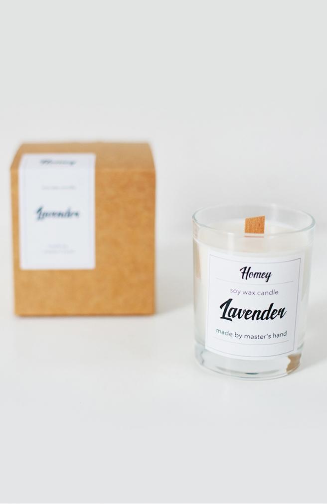>Ароматна свічка Lavender