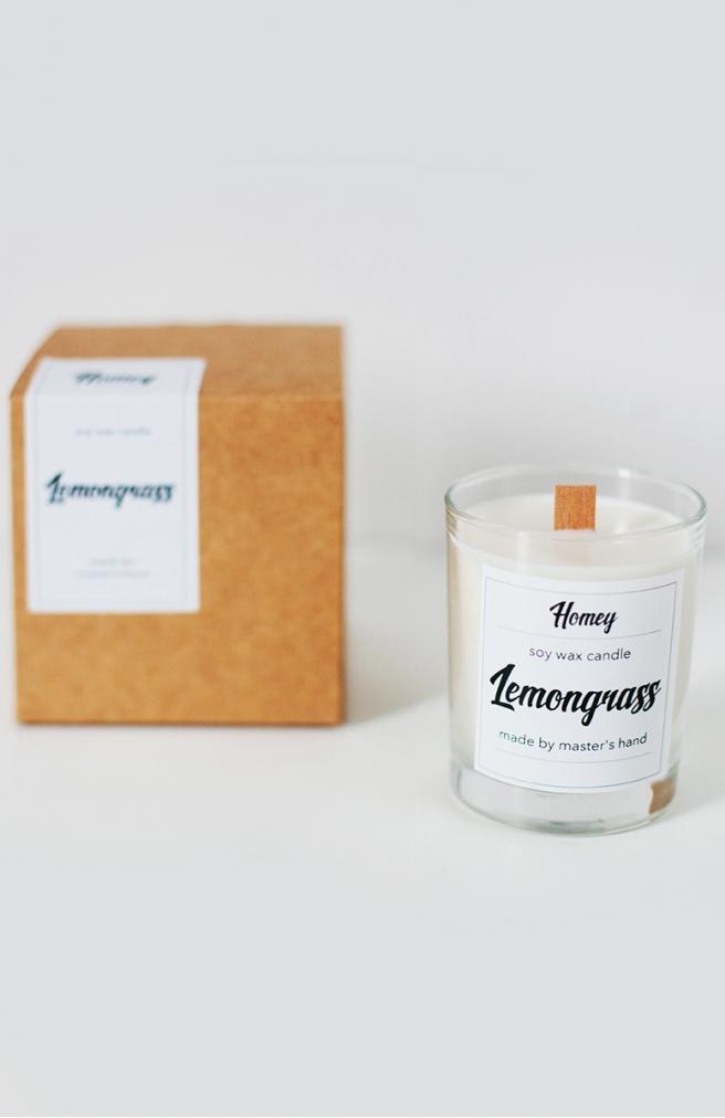 >Ароматна свічка Lemongrass