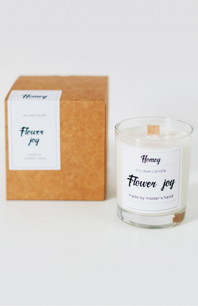 >Ароматна свічка Flower joy