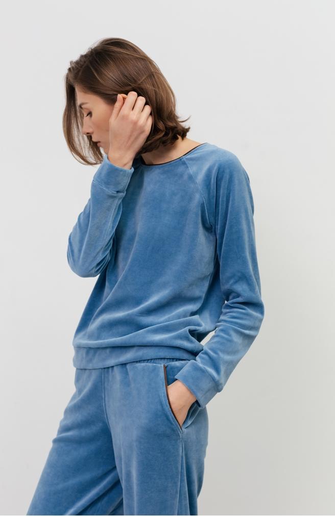 >Набір велюровий синій