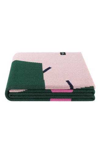 >Плед зелено - рожевий Cactus Knit