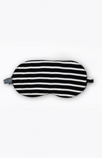 >Маска для сну в чорно-білу смужку