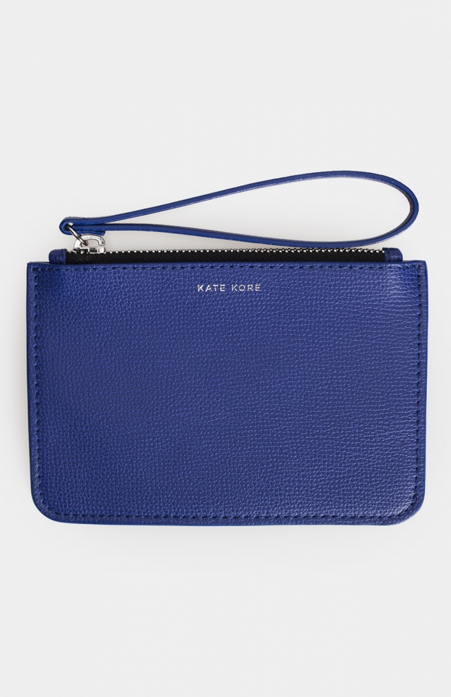 >Saffiano Mini Wallet Blue