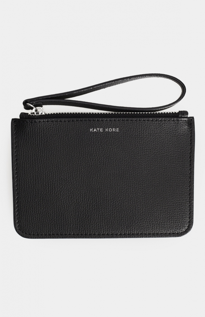 >Saffiano Mini Wallet Black