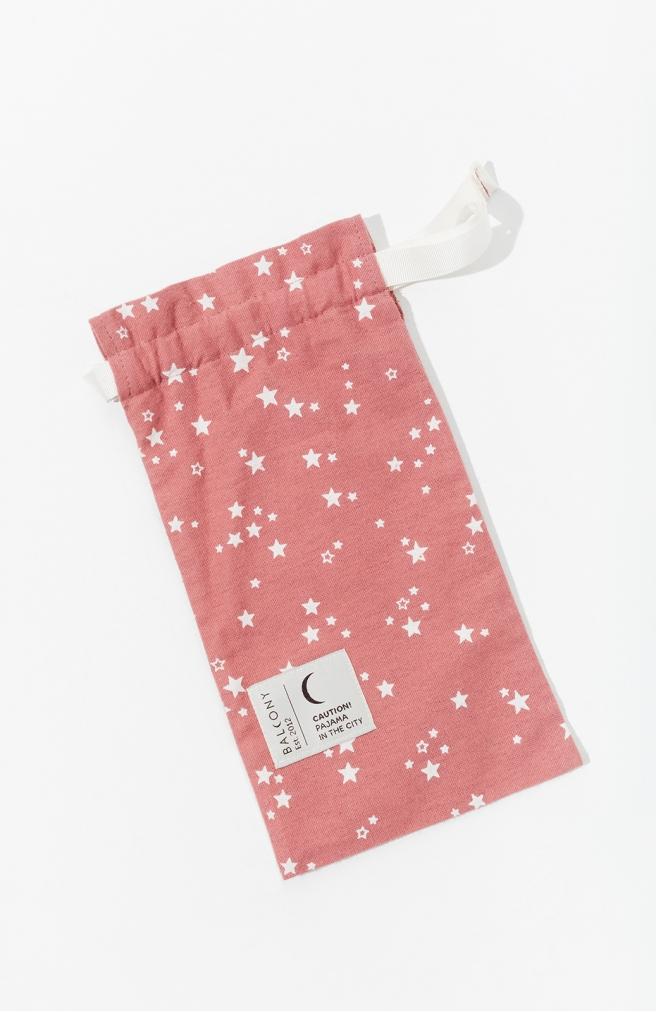 >Подарункова торбинка рожева із зав'язкою
