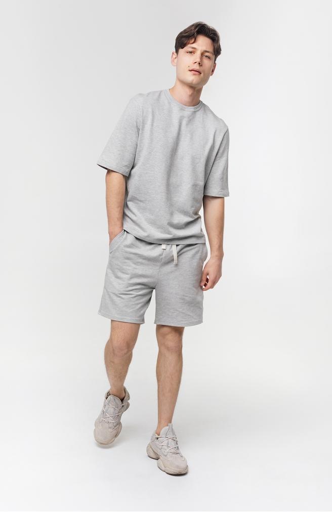 >Чоловічі шорти сірі трикотажні