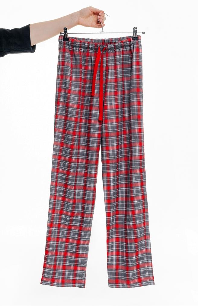 >Чоловічі штани в клітинку червоні