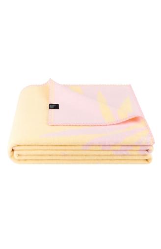 >Плед жовто - рожевий Palms