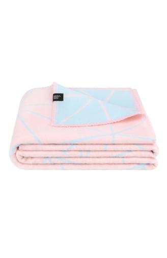 >Плед рожево - блакитний Poly